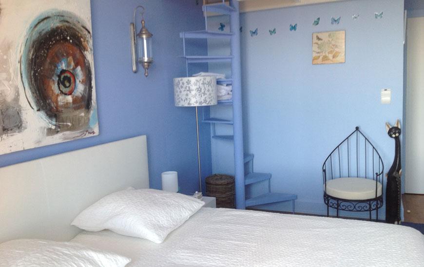 La chambre Chagall  bleue